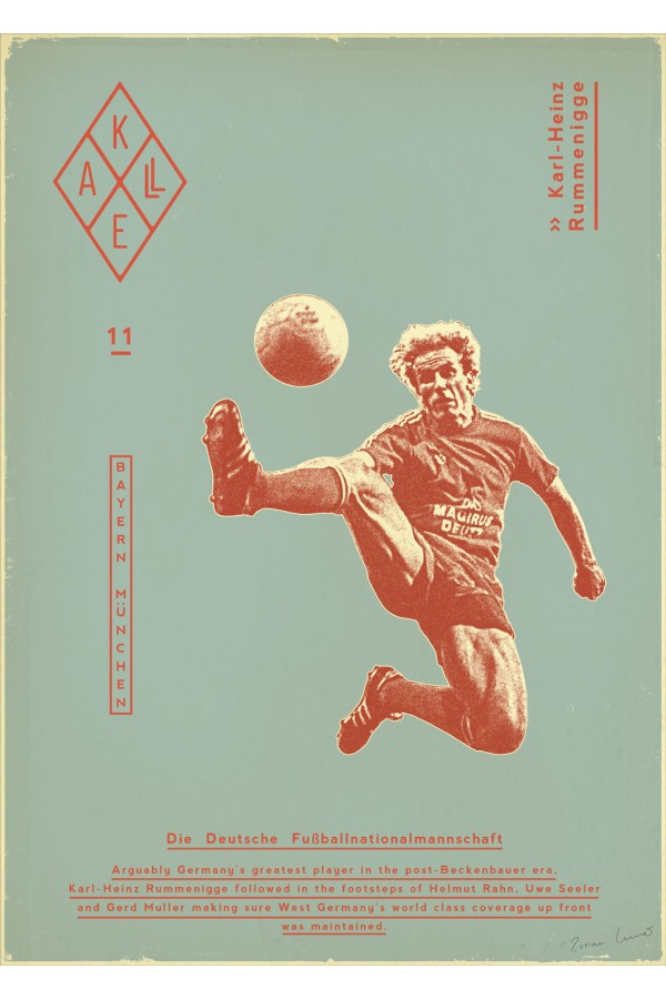 Vintage football poster particularly
