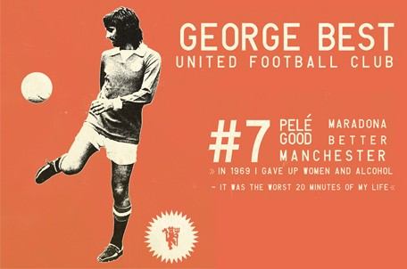 Georges Best Posters - Soccer Legends posters- Football Legends Art